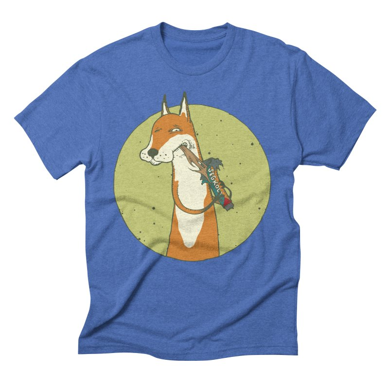 Fox vs toffee Men's Triblend T-Shirt by Magnus Blomster