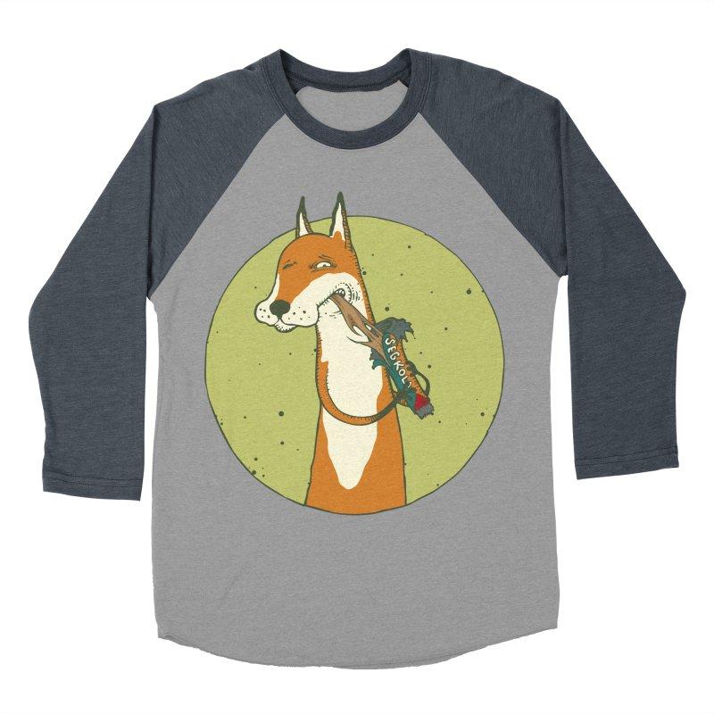 Fox vs toffee Women's Baseball Triblend Longsleeve T-Shirt by Magnus Blomster