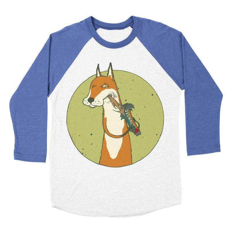 Fox vs toffee Men's Baseball Triblend Longsleeve T-Shirt by Magnus Blomster