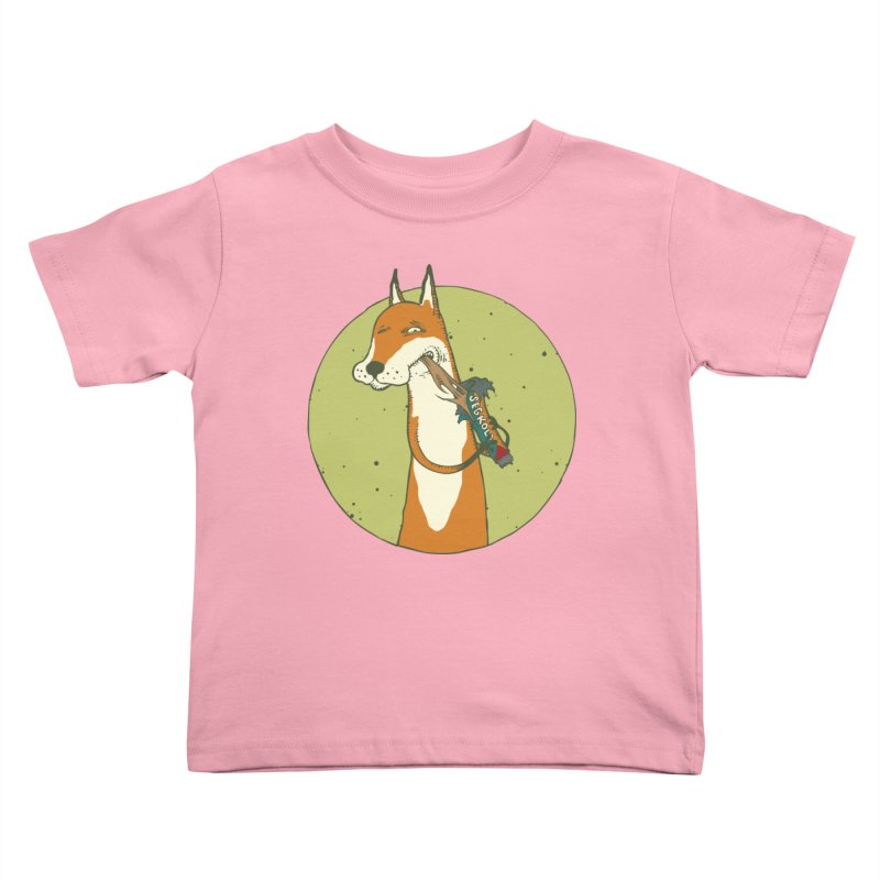 Fox vs toffee Kids Toddler T-Shirt by Magnus Blomster
