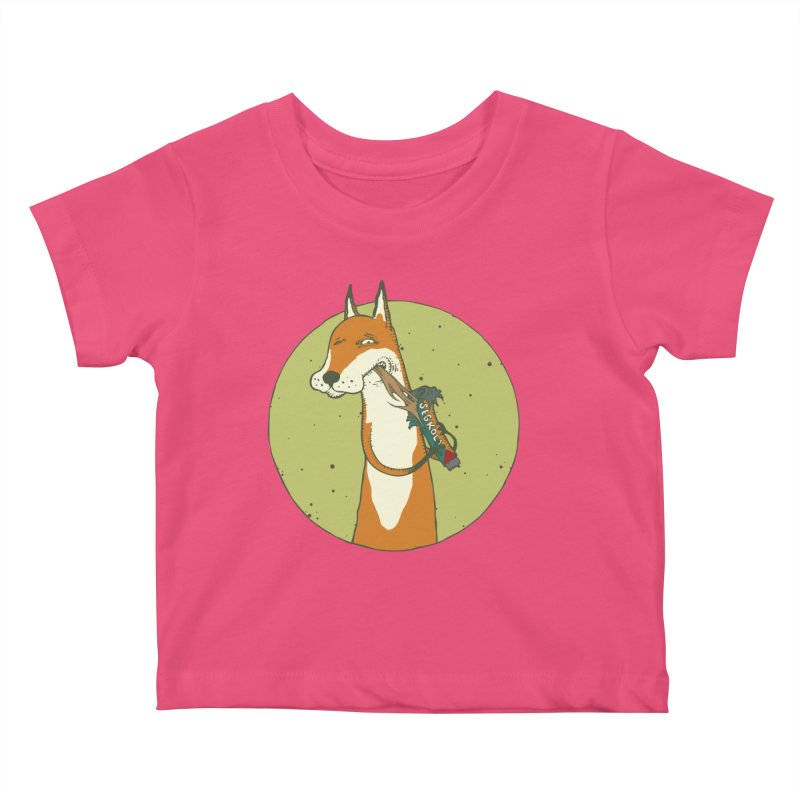 Fox vs toffee Kids Baby T-Shirt by Magnus Blomster