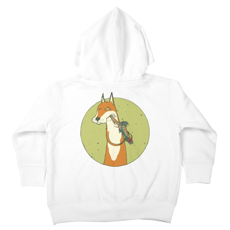 Fox vs toffee Kids Toddler Zip-Up Hoody by Magnus Blomster