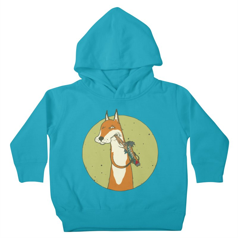 Fox vs toffee Kids Toddler Pullover Hoody by Magnus Blomster
