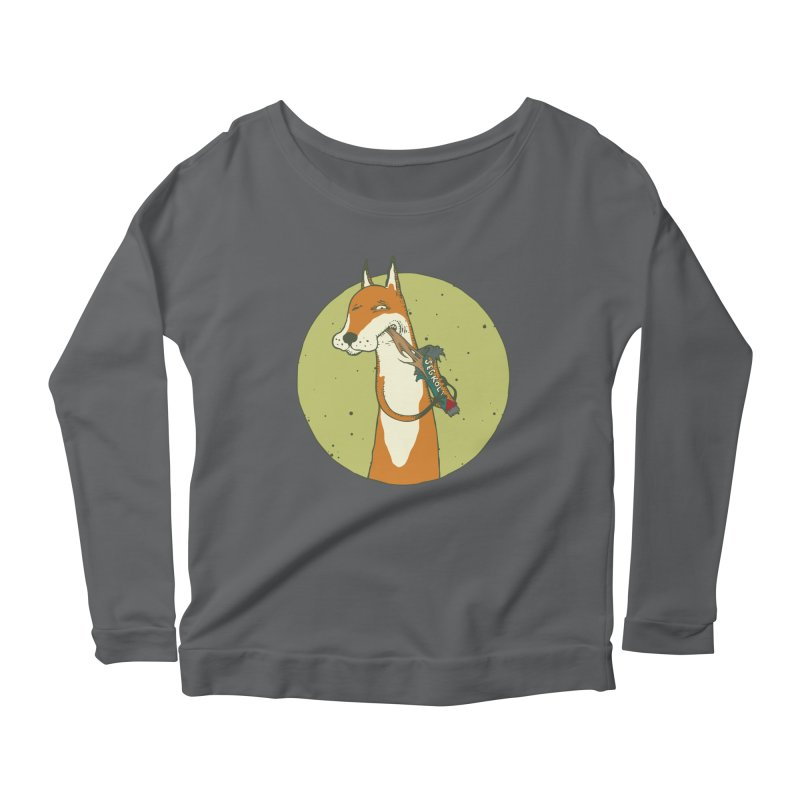 Fox vs toffee Women's Scoop Neck Longsleeve T-Shirt by Magnus Blomster