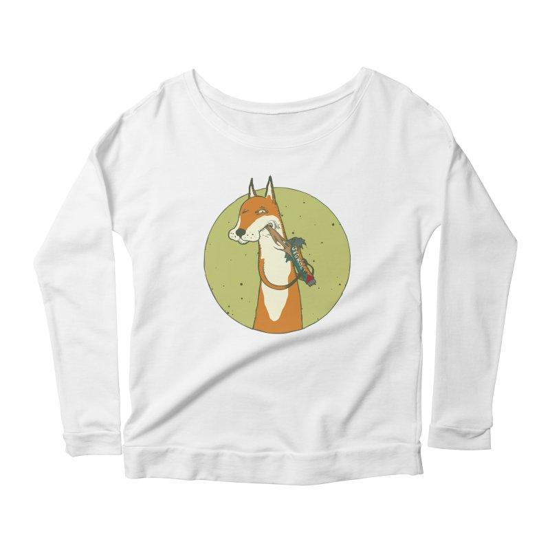 Fox vs toffee Women's Scoop Neck Longsleeve T-Shirt by Magnus Blomster