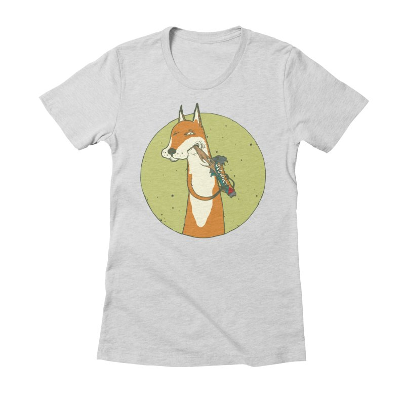 Fox vs toffee Women's Fitted T-Shirt by Magnus Blomster