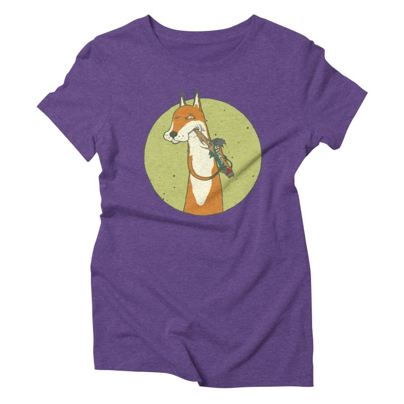 Fox vs toffee Women's Triblend T-Shirt by Magnus Blomster