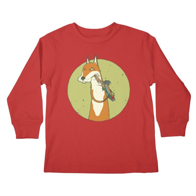 Fox vs toffee Kids Longsleeve T-Shirt by Magnus Blomster