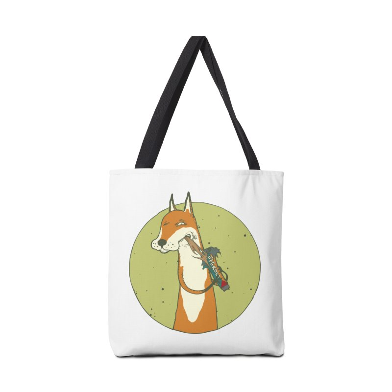 Fox vs toffee Accessories Tote Bag Bag by Magnus Blomster