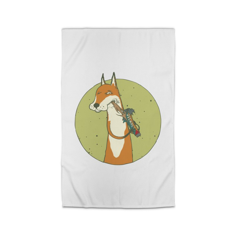 Fox vs toffee Home Rug by Magnus Blomster
