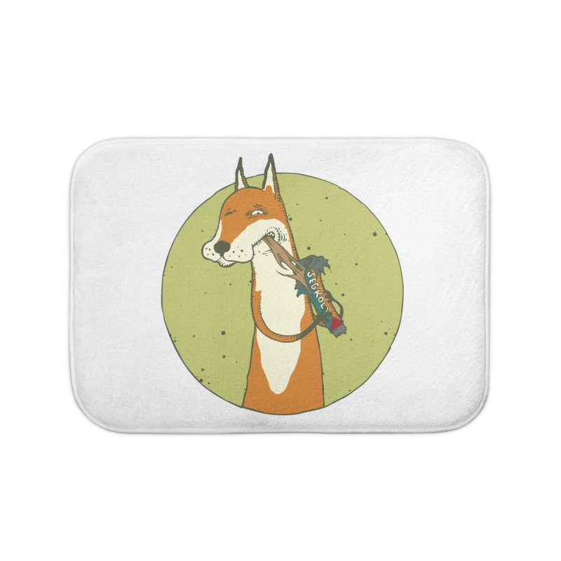 Fox vs toffee Home Bath Mat by Magnus Blomster