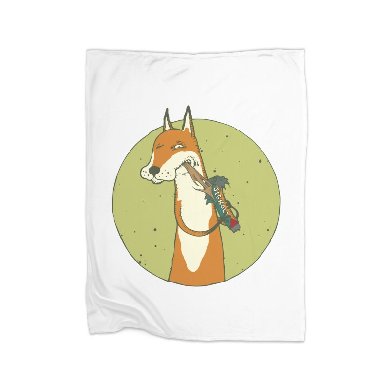 Fox vs toffee Home Fleece Blanket Blanket by Magnus Blomster
