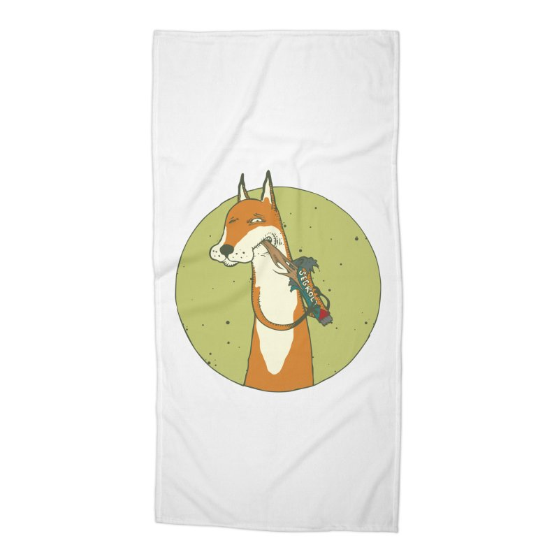 Fox vs toffee Accessories Beach Towel by Magnus Blomster