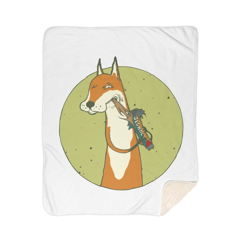 Fox vs toffee Home Sherpa Blanket Blanket by Magnus Blomster