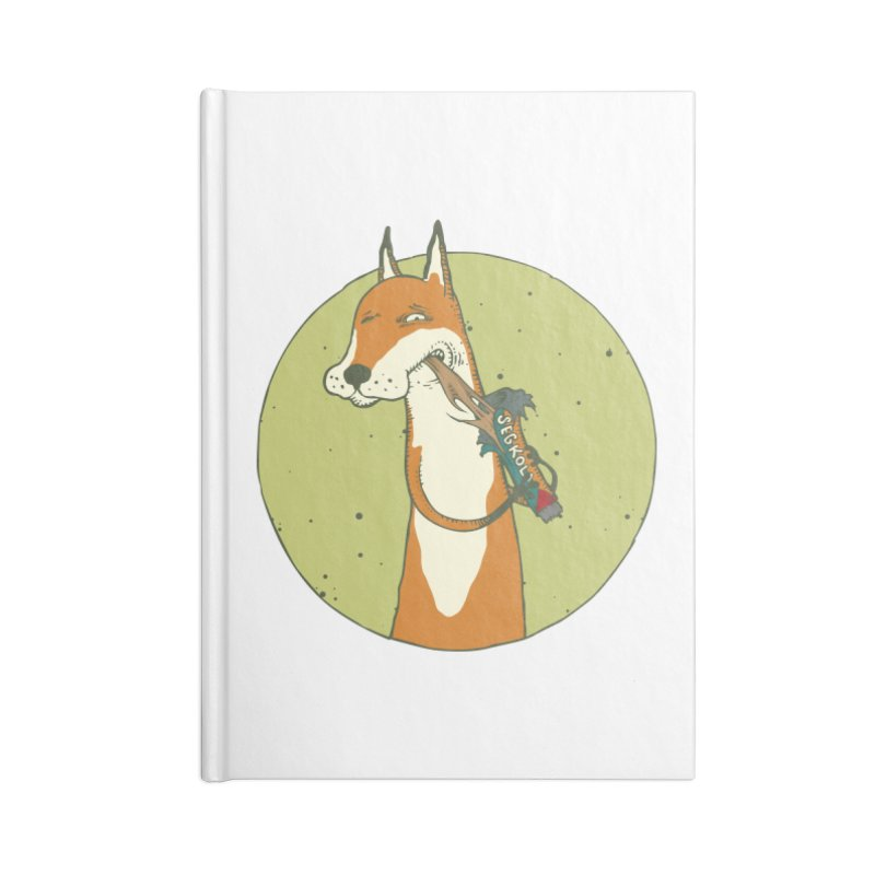 Fox vs toffee Accessories Lined Journal Notebook by Magnus Blomster