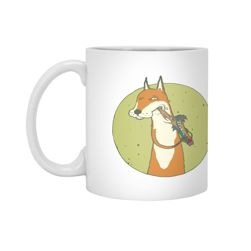 Fox vs toffee Accessories Mug by Magnus Blomster