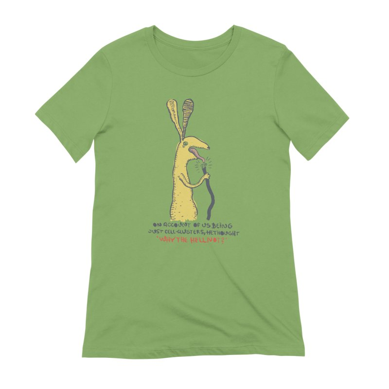 Cell-cluster bunny Women's Extra Soft T-Shirt by Magnus Blomster