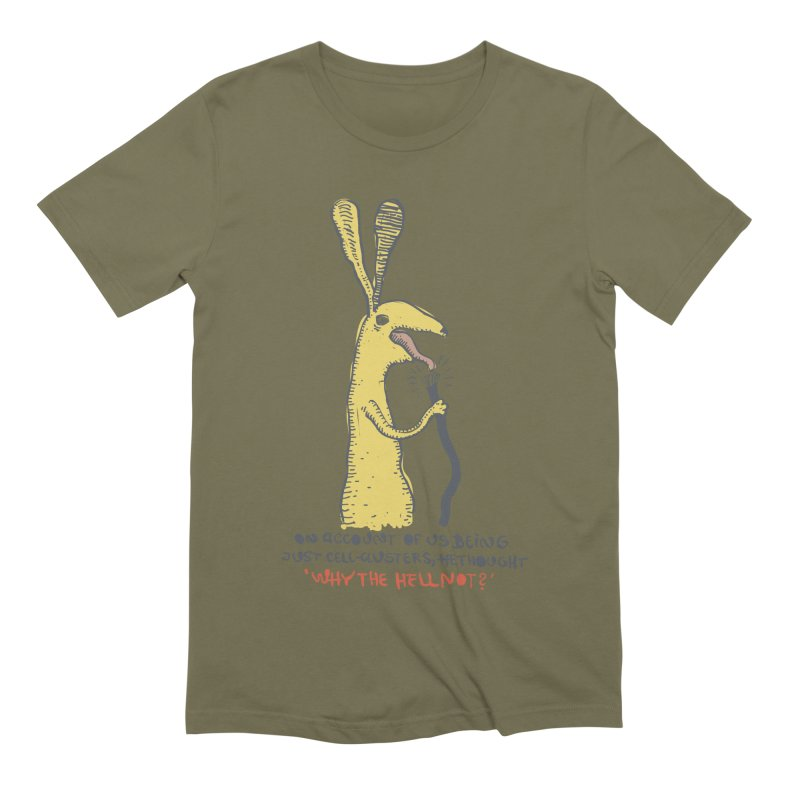 Cell-cluster bunny Men's Extra Soft T-Shirt by Magnus Blomster