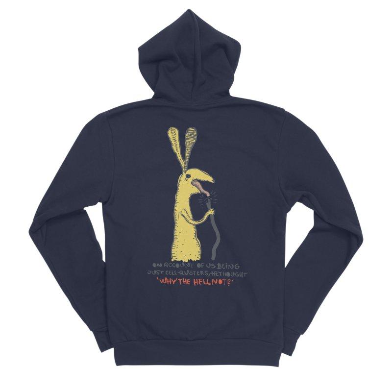 Cell-cluster bunny Men's Sponge Fleece Zip-Up Hoody by Magnus Blomster