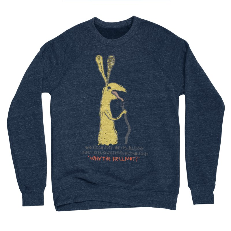 Cell-cluster bunny Men's Sponge Fleece Sweatshirt by Magnus Blomster