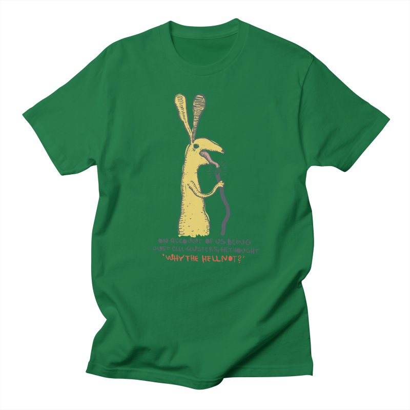 Cell-cluster bunny Men's T-Shirt by Magnus Blomster