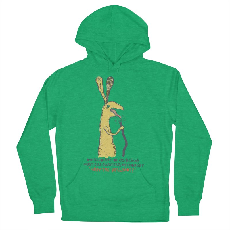Cell-cluster bunny Women's French Terry Pullover Hoody by Magnus Blomster