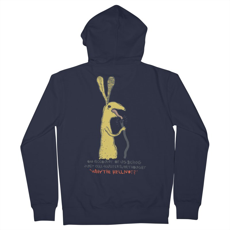 Cell-cluster bunny Men's French Terry Zip-Up Hoody by Magnus Blomster