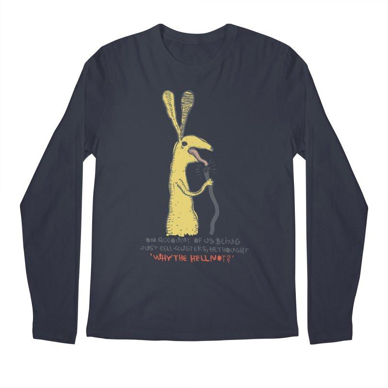 Cell-cluster bunny Men's Regular Longsleeve T-Shirt by Magnus Blomster