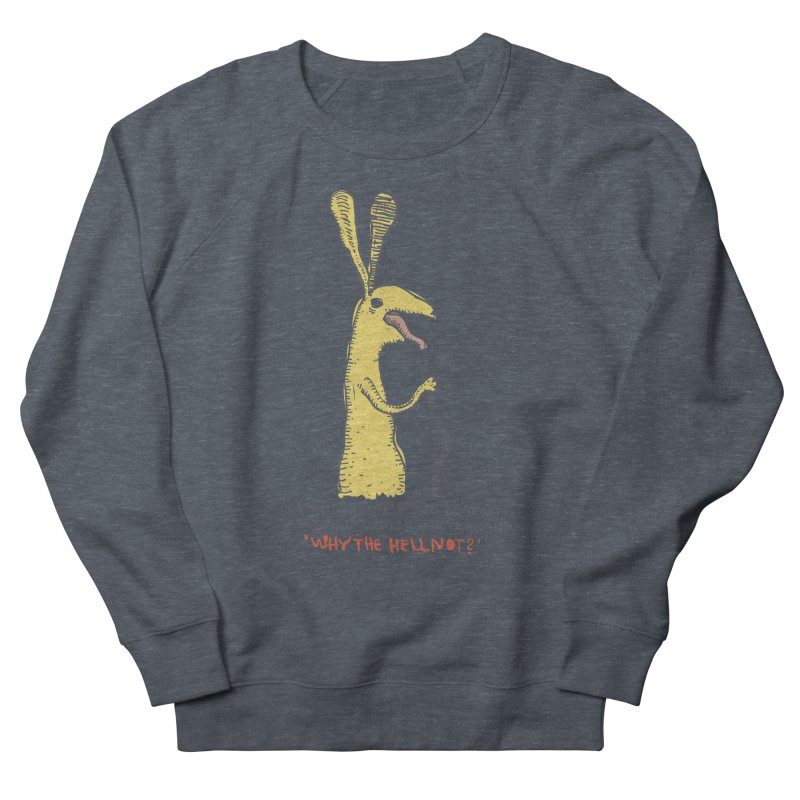 Cell-cluster bunny Women's French Terry Sweatshirt by Magnus Blomster