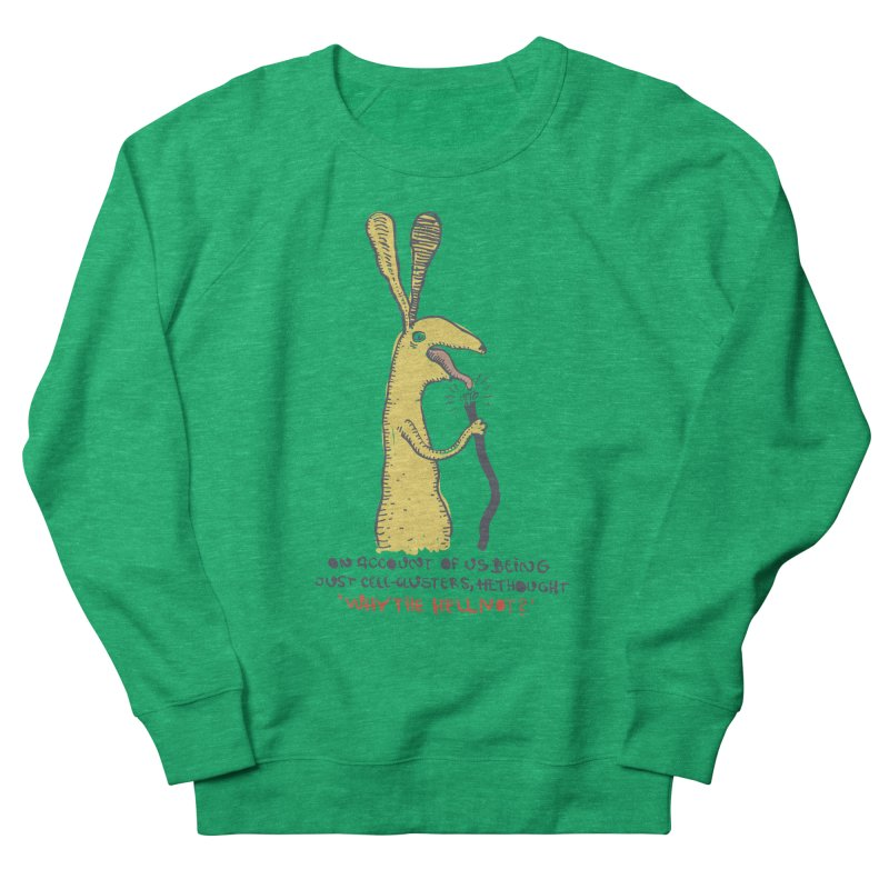 Cell-cluster bunny Men's French Terry Sweatshirt by Magnus Blomster