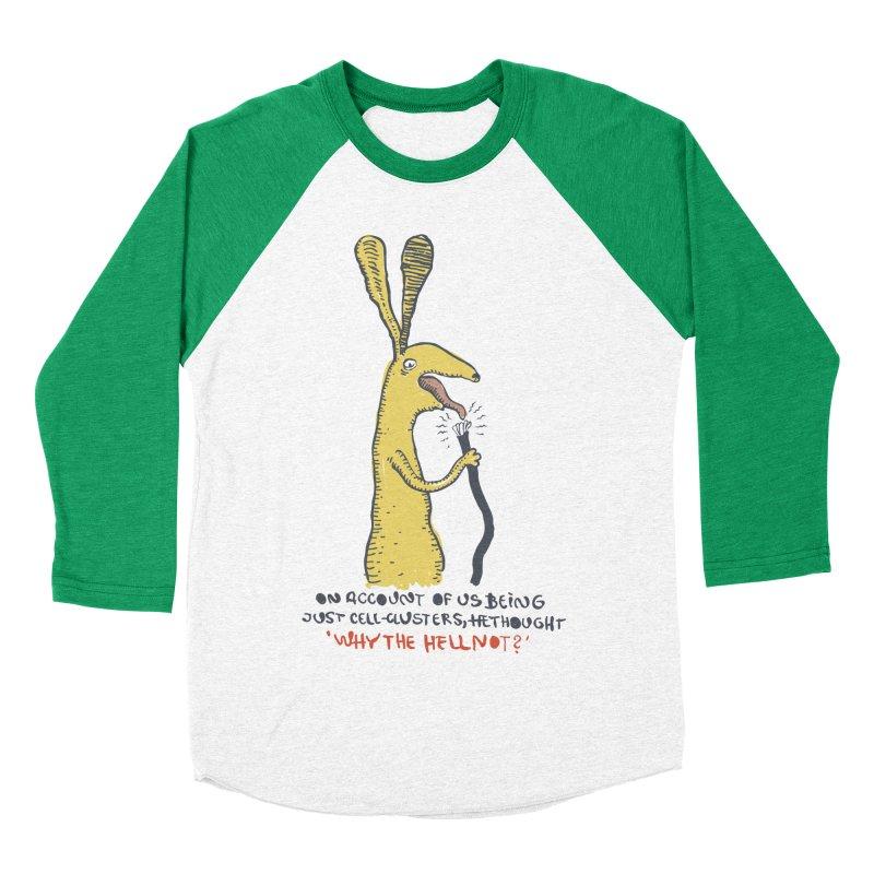 Cell-cluster bunny Women's Baseball Triblend Longsleeve T-Shirt by Magnus Blomster