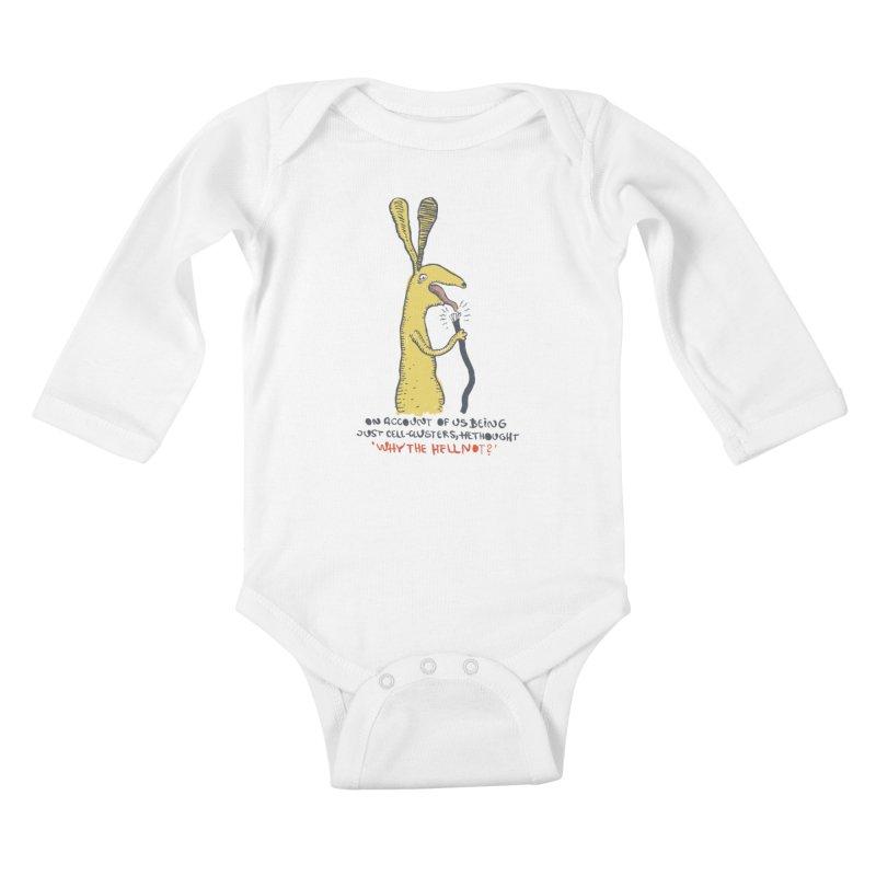 Cell-cluster bunny Kids Baby Longsleeve Bodysuit by Magnus Blomster