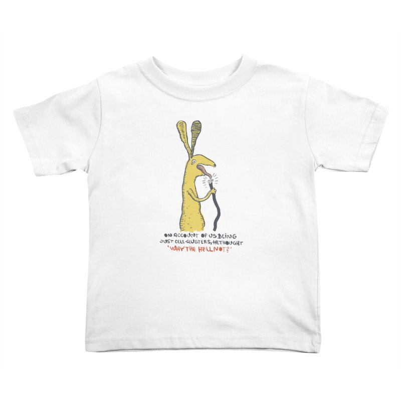 Cell-cluster bunny Kids Toddler T-Shirt by Magnus Blomster