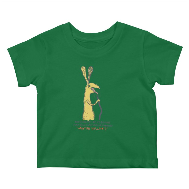 Cell-cluster bunny Kids Baby T-Shirt by Magnus Blomster