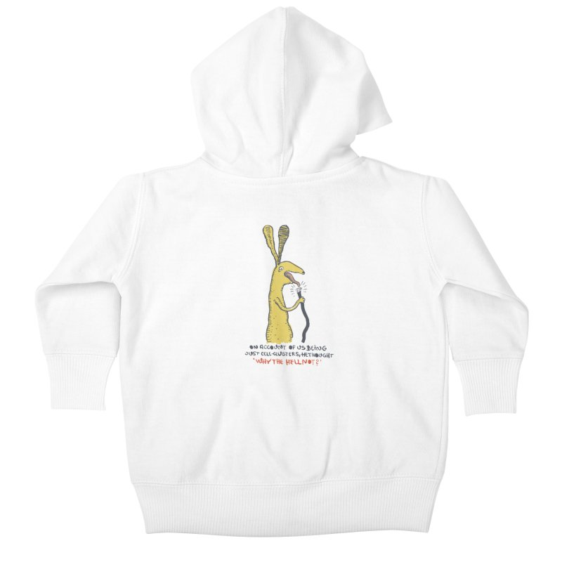 Cell-cluster bunny Kids Baby Zip-Up Hoody by Magnus Blomster