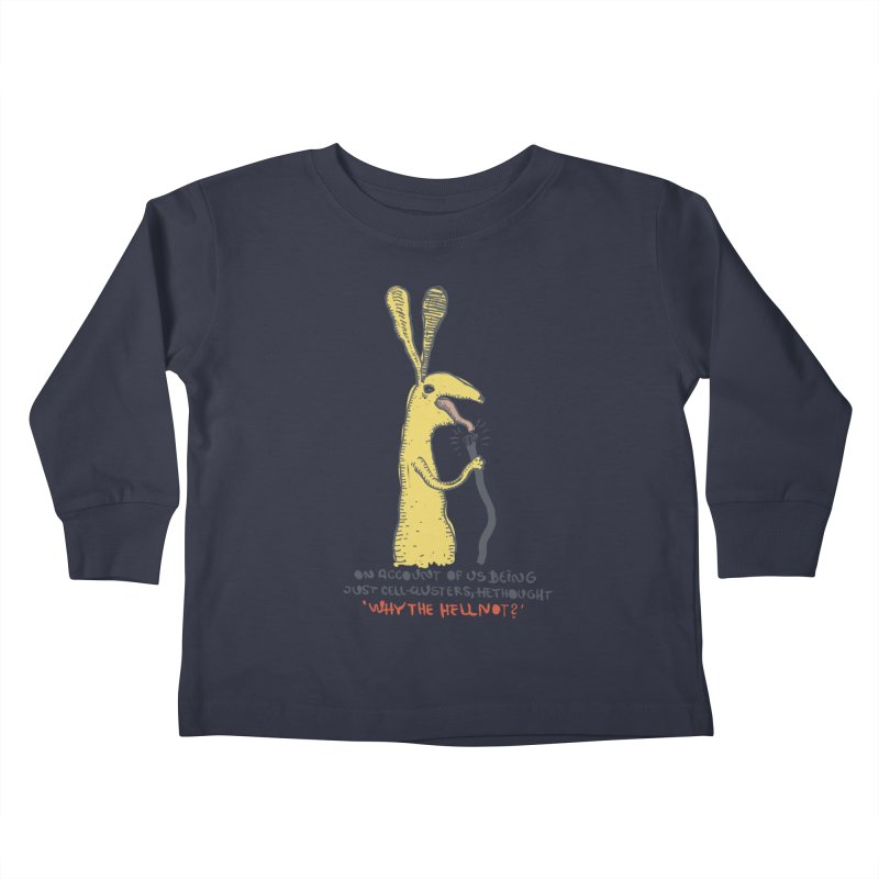 Cell-cluster bunny Kids Toddler Longsleeve T-Shirt by Magnus Blomster
