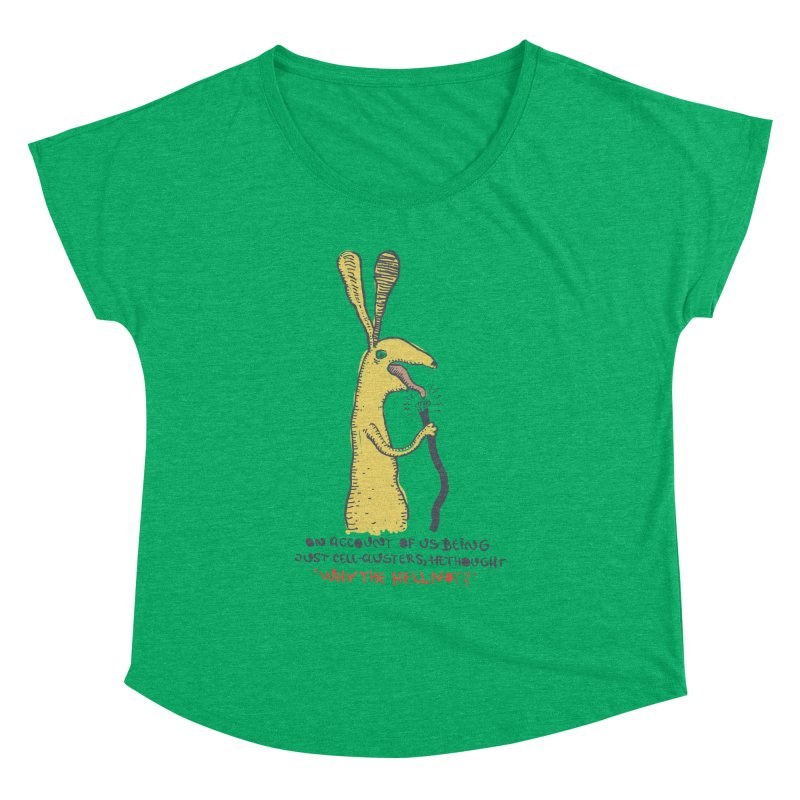 Cell-cluster bunny Women's Dolman Scoop Neck by Magnus Blomster