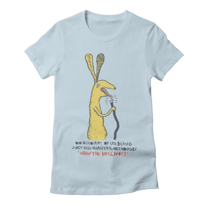Cell-cluster bunny Women's Fitted T-Shirt by Magnus Blomster