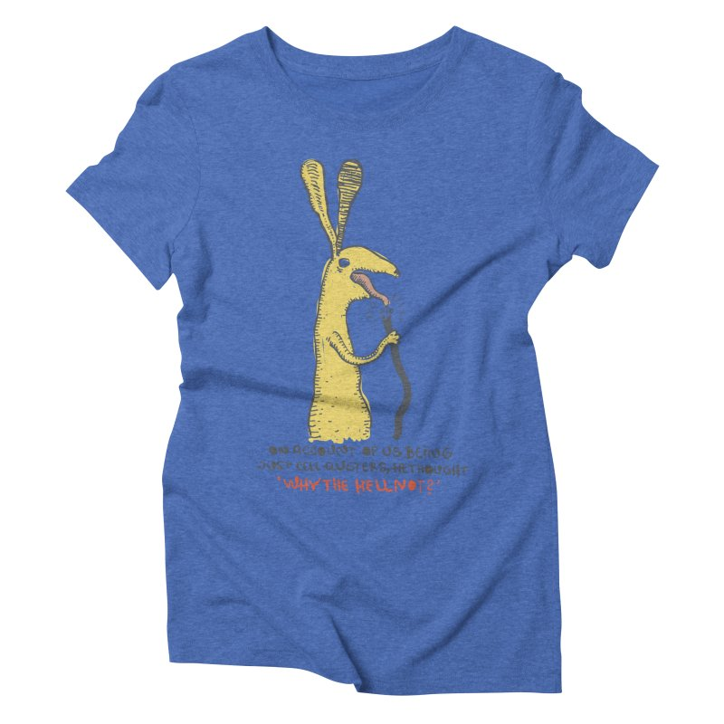 Cell-cluster bunny Women's Triblend T-Shirt by Magnus Blomster