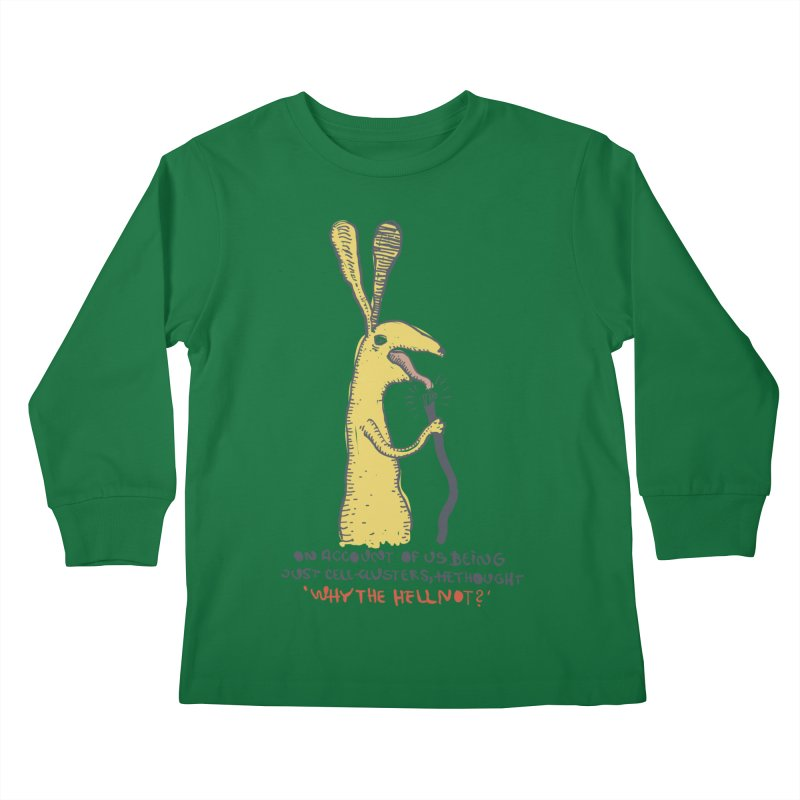 Cell-cluster bunny Kids Longsleeve T-Shirt by Magnus Blomster