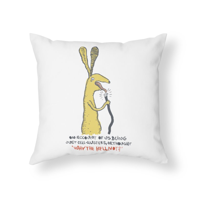 Cell-cluster bunny Home Throw Pillow by Magnus Blomster