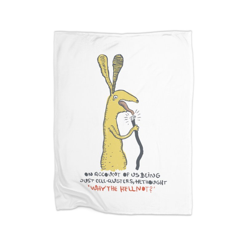 Cell-cluster bunny Home Fleece Blanket Blanket by Magnus Blomster