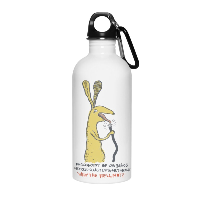 Cell-cluster bunny Accessories Water Bottle by Magnus Blomster