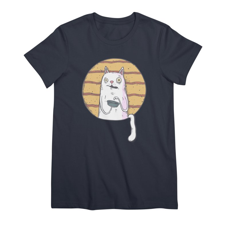 Starving cat Women's Premium T-Shirt by Magnus Blomster