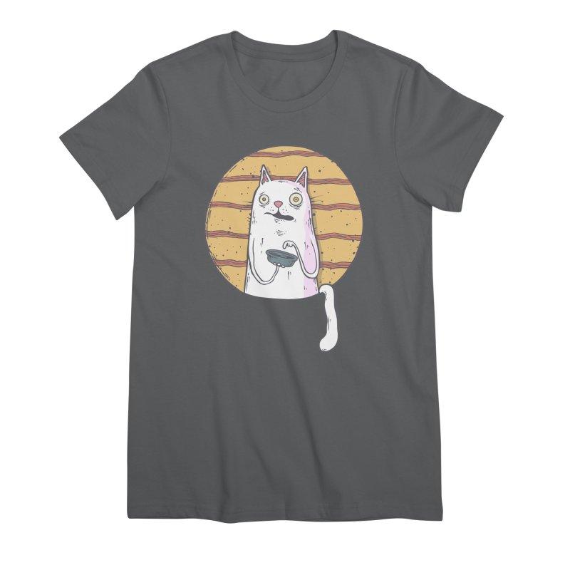 Starving cat Women's Premium T-Shirt by Magnus Blomster