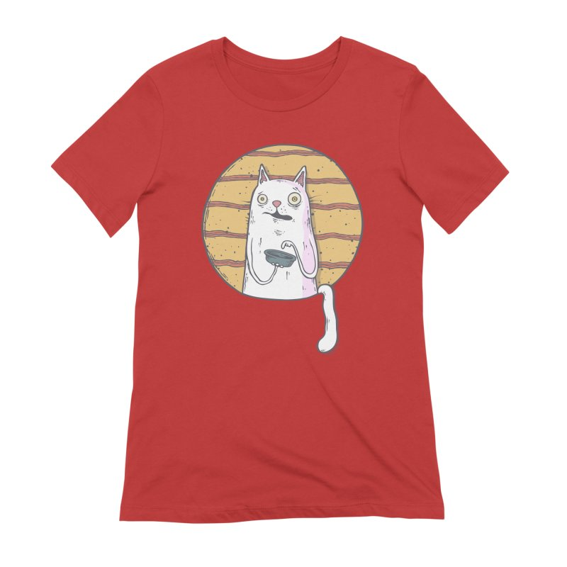 Starving cat Women's Extra Soft T-Shirt by Magnus Blomster