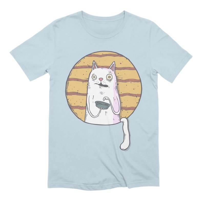 Starving cat Men's Extra Soft T-Shirt by Magnus Blomster