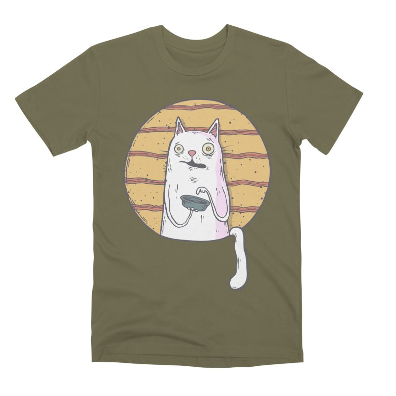 Starving cat Men's Premium T-Shirt by Magnus Blomster