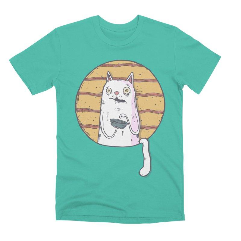 Starving cat Men's Premium T-Shirt by Magnus Blomster