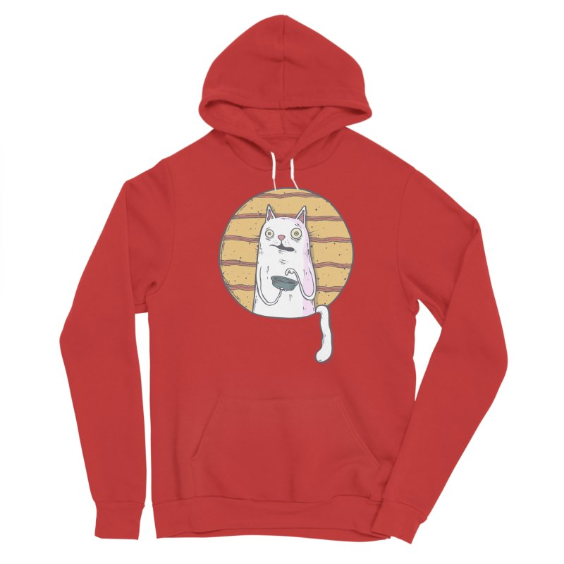 Starving cat Men's Pullover Hoody by Magnus Blomster